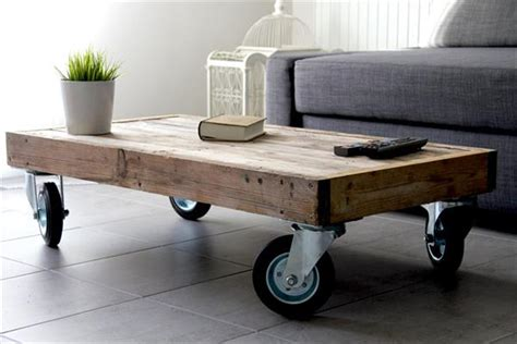 Diy-Coffee-Table-With-Caster-Wheels