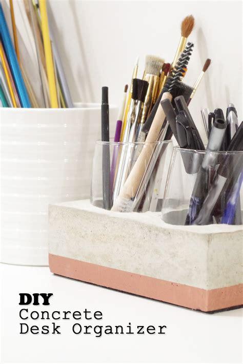 Diy-Concrete-Desk-Organizer