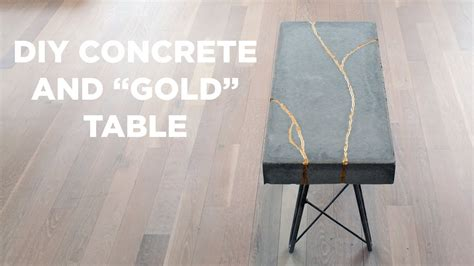 Diy-Concrete-Gold-Table