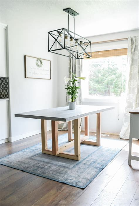 Diy-Concrete-Wood-Dining-Table