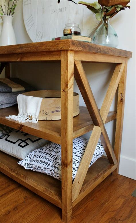 Diy-Console-Table-With-Shelf
