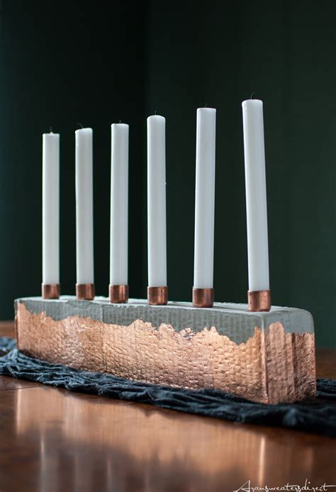 Diy-Copper-Candle-Holders
