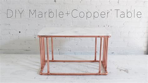 Diy-Copper-Coffee-Table-With-A-Marble-Top