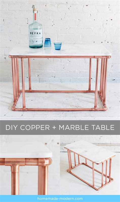 Diy-Copper-Marble-Table