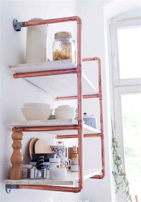 Diy-Copper-Shelving
