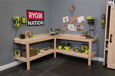Diy-Corner-Garage-Workbench
