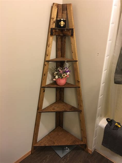 Diy-Corner-Ladder-Shelf