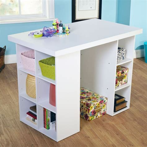 Diy-Counter-Height-Craft-Table-With-Storage