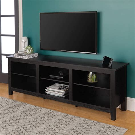 Diy-Cover-Black-Tv-Stand-With-Weathered-Wood