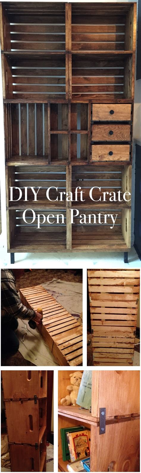 Diy-Craft-Crate-Open-Pantry