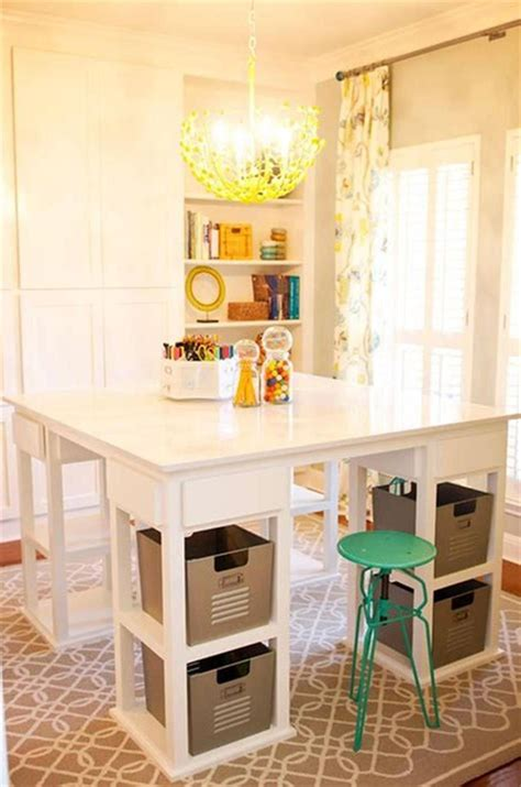 Diy-Craft-Room-Table-With-Ikea-Furniture