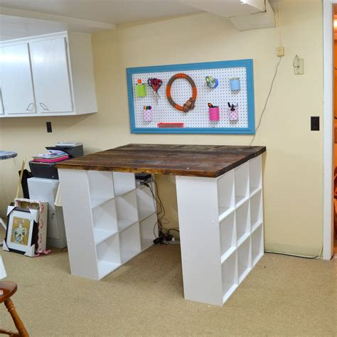 Diy-Craft-Table-With-Bookcase