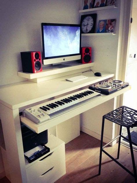 Diy-Desk-Ikea-Music-Keyboard-Pullout