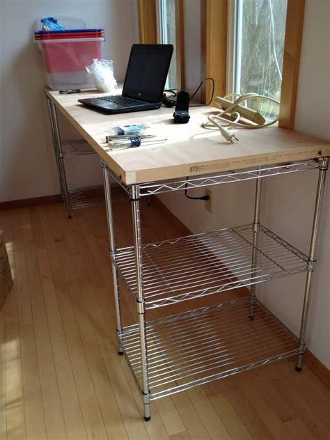 Diy-Desk-Using-Wire-Shelves