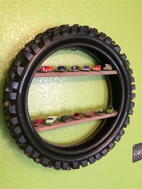 Diy-Dirt-Bike-Tire-Shelf