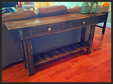 Diy-Distressed-Console-Table