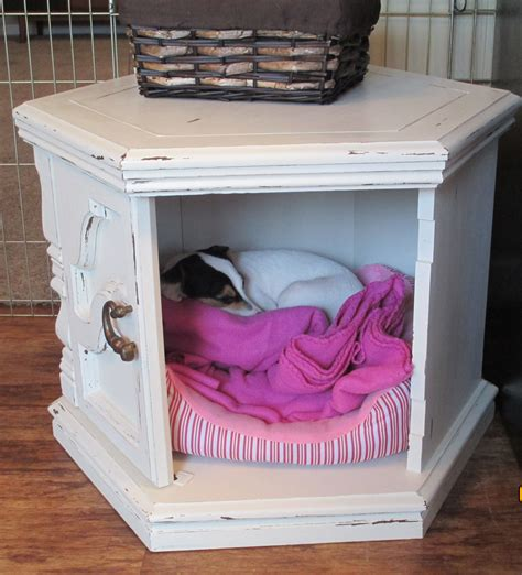 Diy-Dog-Bed-Out-Of-Side-Table