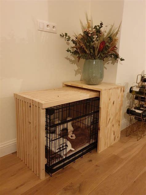 Diy-Dog-Crate-Bench