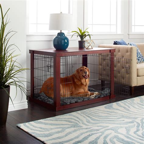 Diy-Dog-Crate-Cover-Table