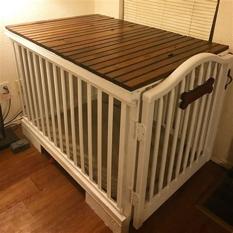 Diy-Dog-Crate-Out-Of-Crib