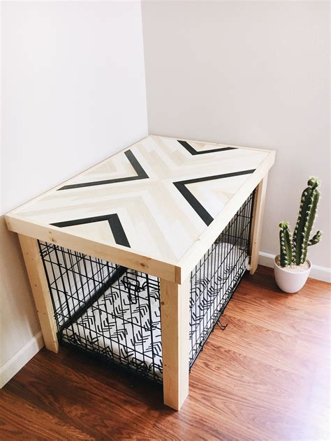 Diy-Dog-Crate-Table-Cover