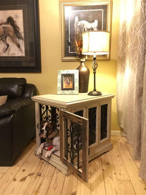 Diy-Dog-Kennel-Side-Table