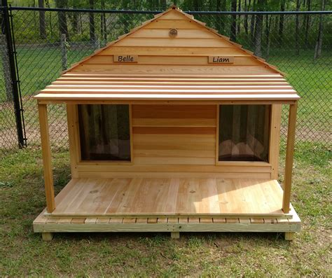 Diy-Double-Dog-House-With-Porch-Plans