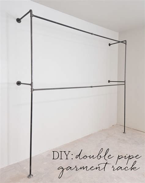 Diy-Double-Pipe-Garment-Rack