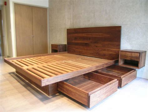 Diy-Double-Wood-Bed-Frame-With-Box-Frame
