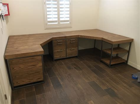 Diy-Double-Wooden-Desk