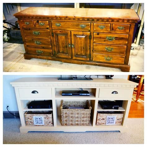 Diy-Dresser-Into-Tv-Stand-With-Shelves