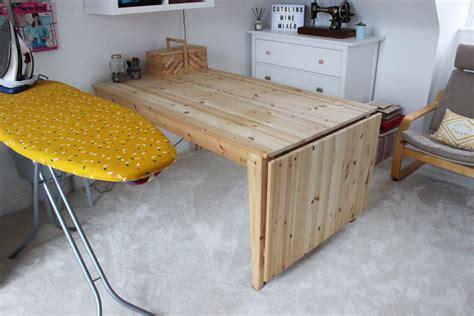 Diy-Drop-Leaf-Cutting-Table