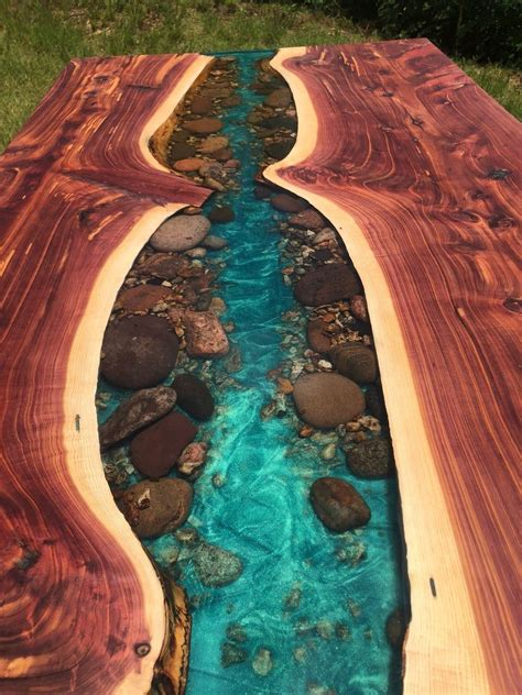 Diy-Epoxy-River-Table-With-Rocks