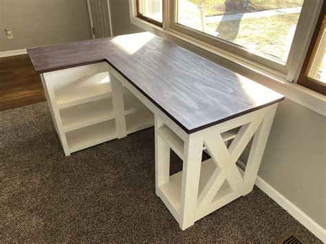 Diy-Farmhouse-L-Desk-Plans