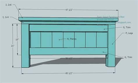 Diy-Farmhouse-Twin-Bed-Plans