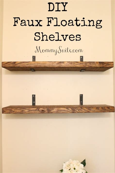 Diy-Faux-Floating-Shelves