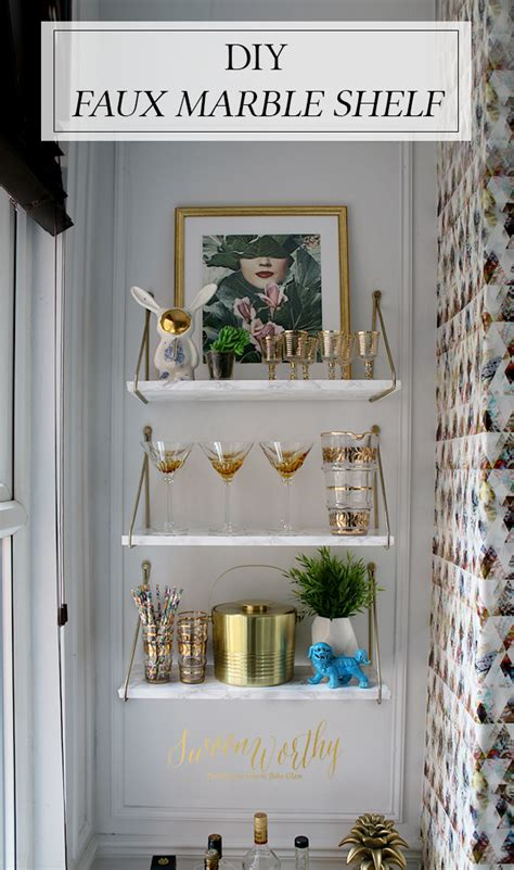 Diy-Faux-Marble-Shelf