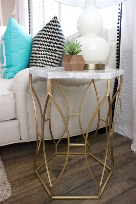 Diy-Faux-Marble-Side-Table