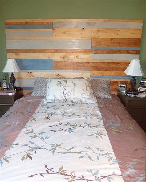 Diy-Faux-Wood-Headboard