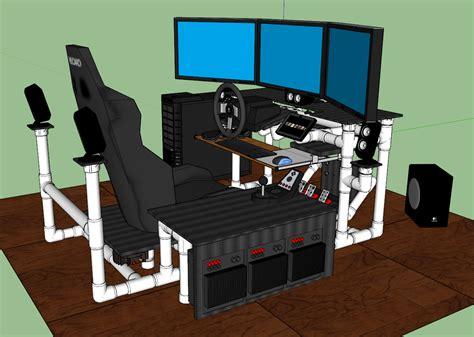 Diy-Flight-Simulator-Desk