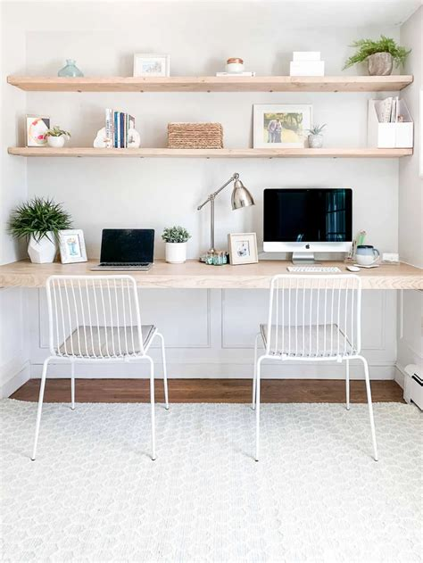 Diy-Floating-Desk-Shelves