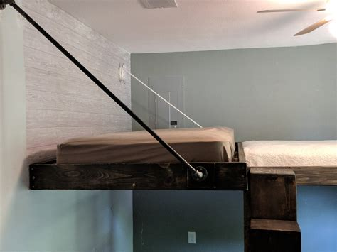 Diy-Floating-Loft-Bed