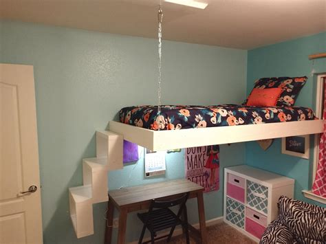 Diy-Floating-Loft-Bed-For-Small-Spaces