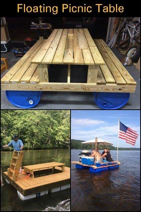 Diy-Floating-Picnic-Table
