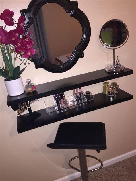 Diy-Floating-Shelf-Makeup-Vanity