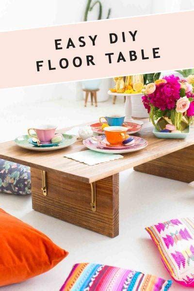 Diy-Floor-Seating-Table