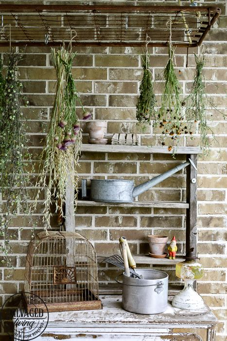 Diy-Flower-Drying-Rack