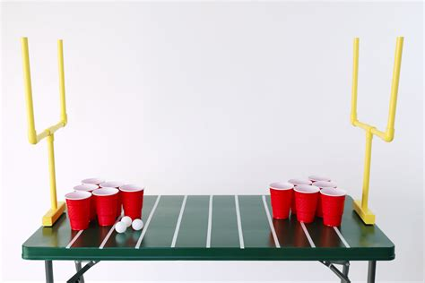 Diy-Football-Beer-Pong-Table