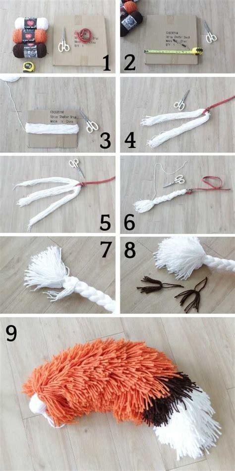 Diy-Fox-Tail-Yarn