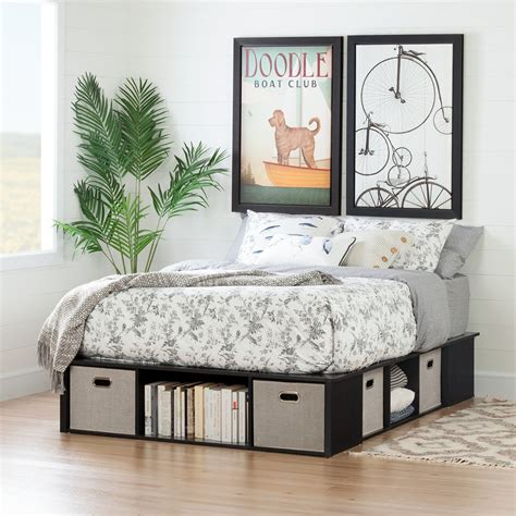 Diy-Full-Size-Platform-Bed-With-Storage
